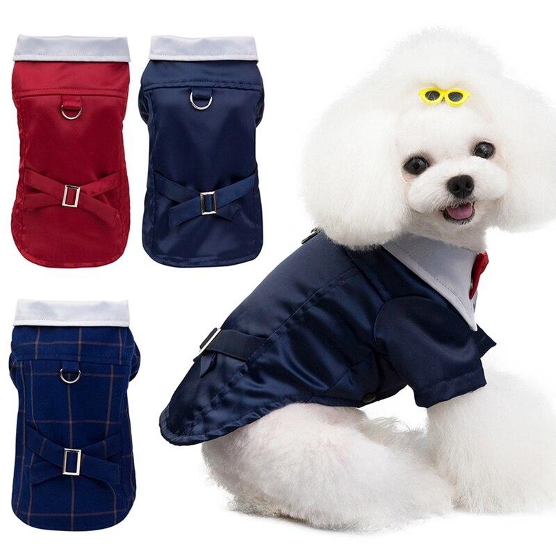 Cool Dog Kleidung Fliege Anzug Pet Mantel Jacke Pet Hochzeit Kostüm Chihuahua Warme Kleidung Elegante Temperament Charming Und Gener