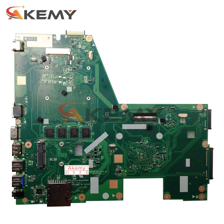 X551CA Laptop motherboard for ASUS X551CAP X551C original mainboard I3-3217U 4GB-RAM 1xSlot