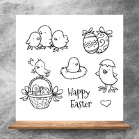 zhuoang cute bird clear stampssilicone transparent seals for diy scrapbooking photo album clear stamps