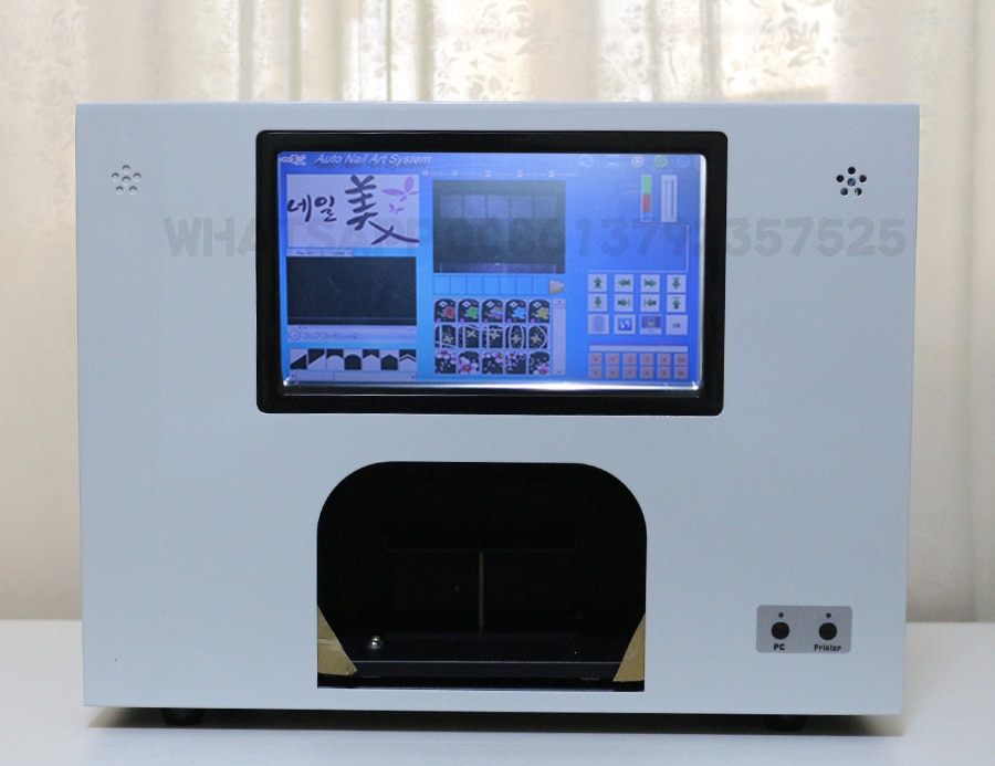 5 nails printing a time nail and flower printer with touch screen and WIFI new updated 3 years warranty nail art machine