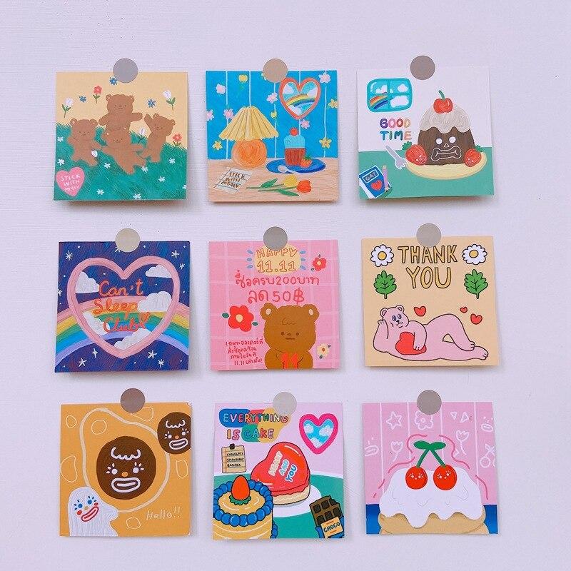 ins-carino-amore-torta-orso-cartone-animato-carta-fotografica-conto-mano-album-decorazione-cartolina-adesivo-busta-adesivi-regalo-scrapbooking