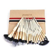 ZOREYA 15pcs Makeup Brushes Set Different Model Essential Professional Cosmetics Tool Kits