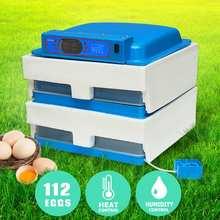 Nouveau 45W 112 Position oeufs automatique incubateur LED oeuf incubateur volaille couveuse entièrement automatique maison Machine à couver 220V