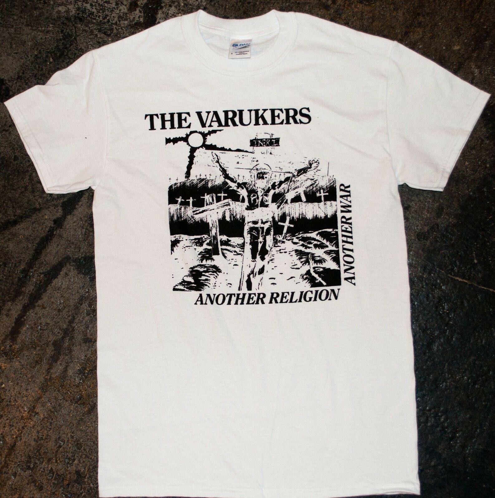 Las Varukers otra religión camiseta Punk Oi Kbd descarga sacrilegio