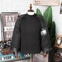 2021 vintage black american style bikers leather jacket men plus size xxxl genuine cowhide spring slim fit motorcycle coat