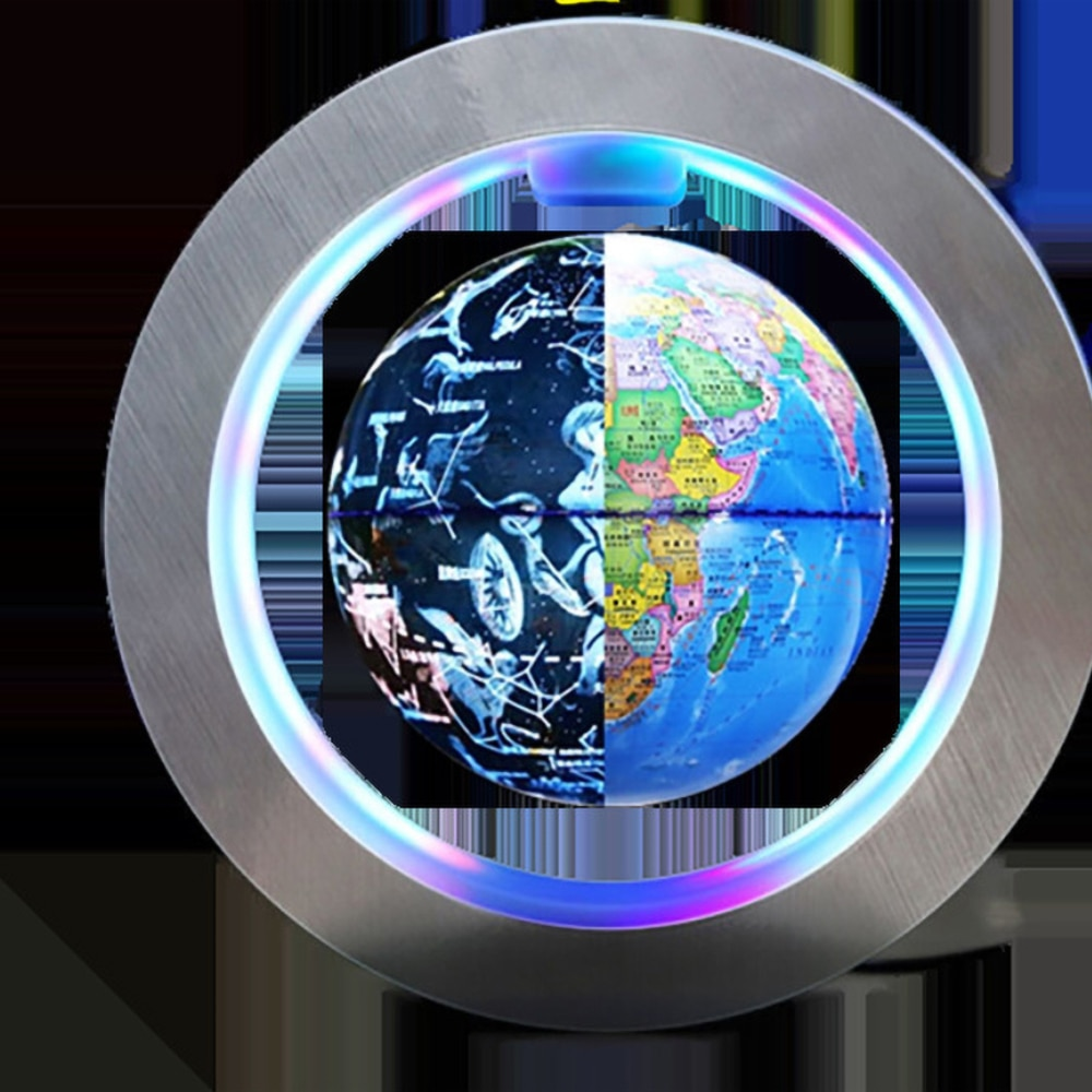 Magnetic Levitation World Map with Constellations LED Light Globe 2 in 1 Anti Gravity Suspending in The Air Decoration Gadget
