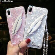 Pour iPhone 7 6 8 Plus 11 Pro MAX Boîtier De Luxe En Marbre Conque Pour iPhone X XS Max XR Paillettes Diamant Bling Cristal Étui de Téléphone
