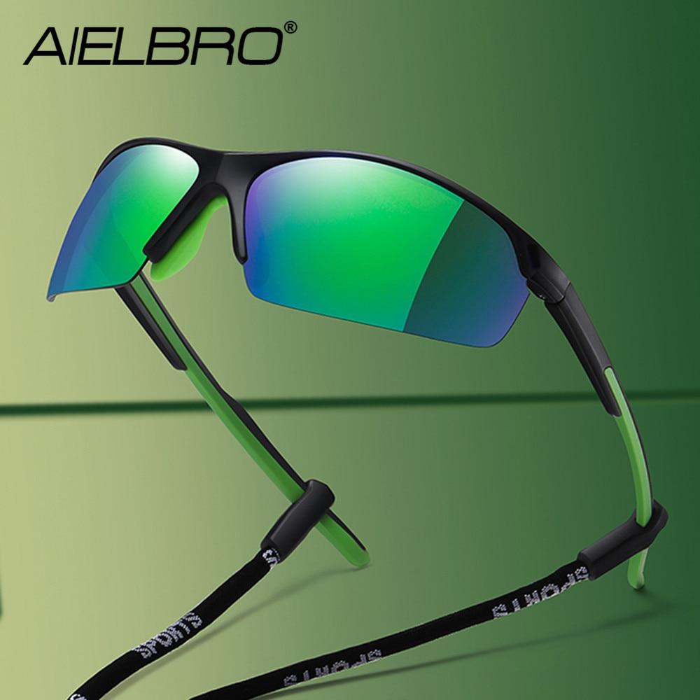 AIELBRO Новые велосипедные очки мужские солнцезащитные очки для спорта поляризованные велосипедные очки мужские солнцезащитные очки