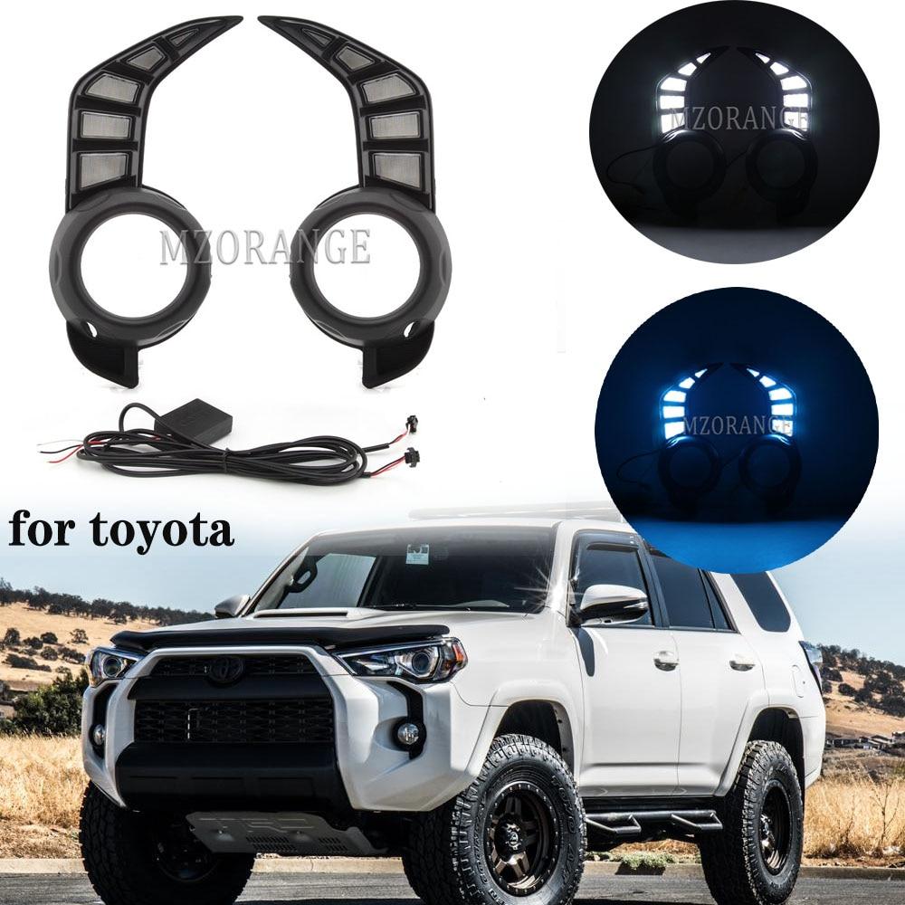 LED DRL Headlights For Toyota 4 Runner 4Runner 2014 - 2021 Daytime Running Light Car Accessories foglights Fog Lamp Decoration