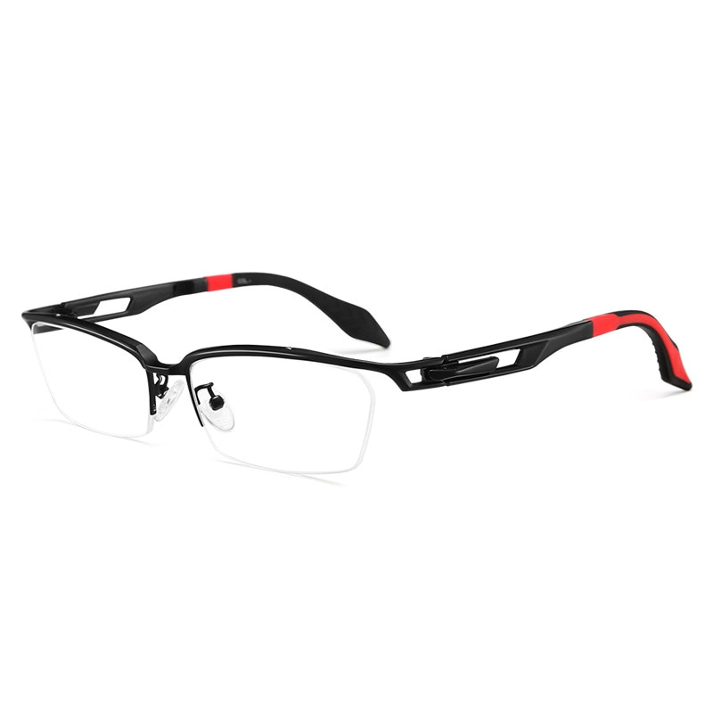 Gafas de titanio de gran tamaño, para hombre, Semi sin montura, marco de cara ancha, gafas para hombre, gafas de cabeza grande, marca para gafas ópticas