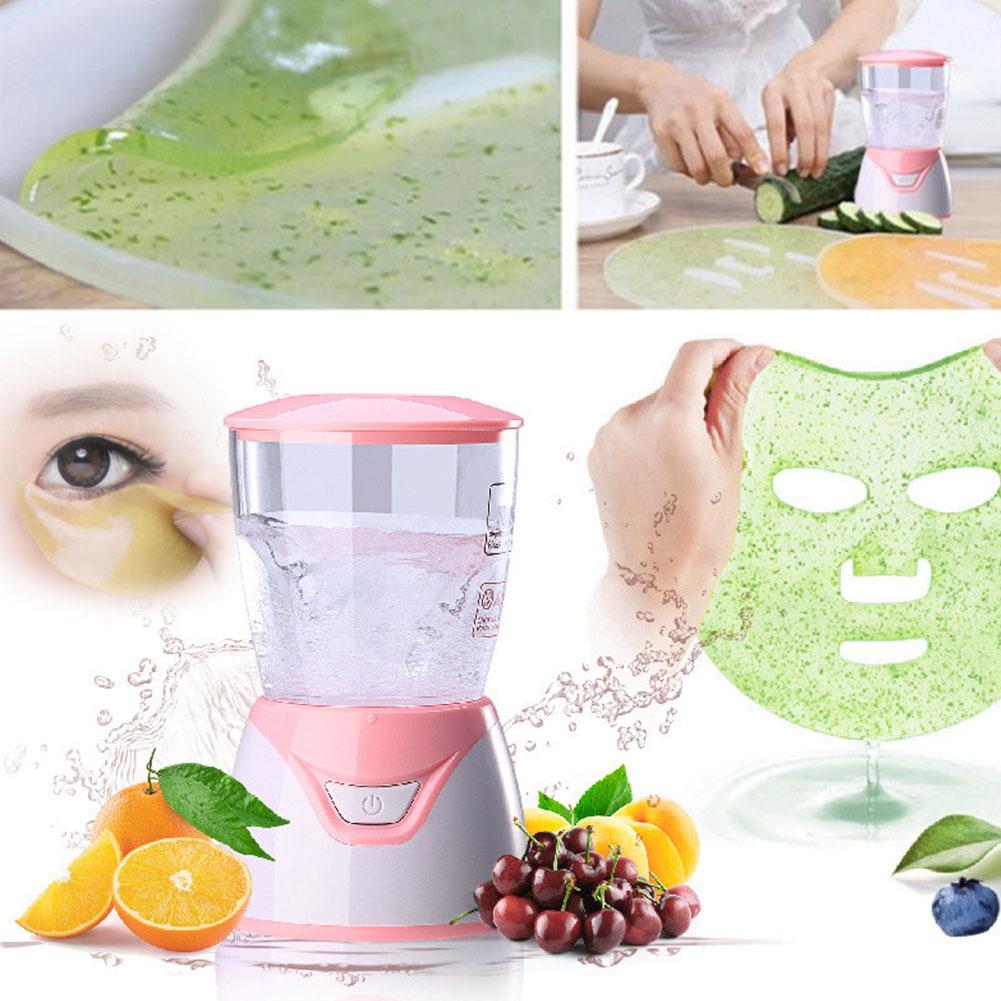 Mini Automatic Fruit Face Mask Maker DIY Automatic Vegetable Natural Collagen Fruit Face Mask Machine Skin Care Home Makeup