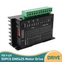 50pcs dm542s driver 9 42 vdc maxstepper motor controller leadshine 2 phase digital stepper motor 4 5a for 42 57 series motor