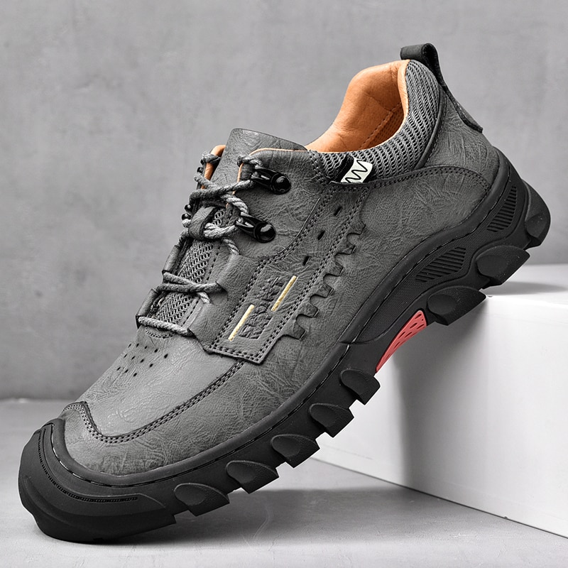 New Men Shoes Genuine hiking shoes Thick sole Loafers High Quality  Outdoor Shoes Men Sneakers Male
