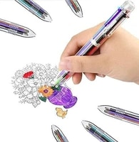 0 5mm 6 in 1 multicolor ballpoint pen best for smooth writing retractable ballpoint pens office school students etc