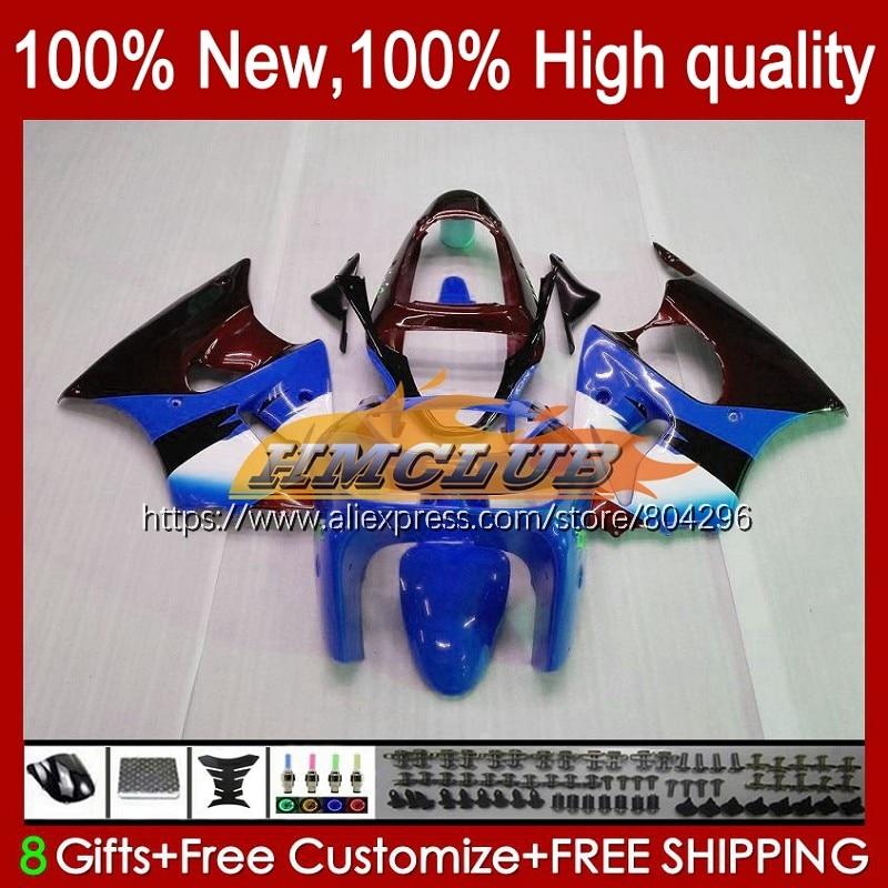 الجسم لكاواساكي ZX-6R 6 R ZX-636 ZX600 600CC 98 99 104No.86 ZX600CC أسود أزرق ZX 636 6R ZX6R 98 99 ZX636 1998 1999 هدية