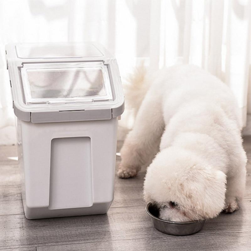 Pet Dog Feeder Storage Food Container Mildew Large Capacity Storage Anti-Oxidation Dog Bowl Fresh Box Food Container Dog Bucket