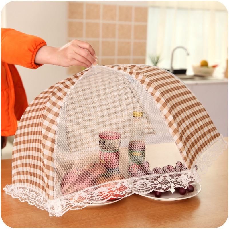 Funda plegable para mesa de comida, elegante paraguas antimosquitos, utensilios de cocina, utensilios para cocinar, funda para comida, cubiertas de malla para mesa, utensilios de cocina