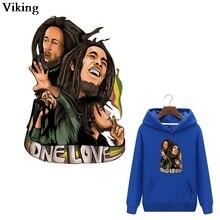 Chanteur Bob Marley mode patchs thermiques Cool transfert de chaleur Patch autocollants fer à repasser vêtements patchs thermiques pour veste G0229