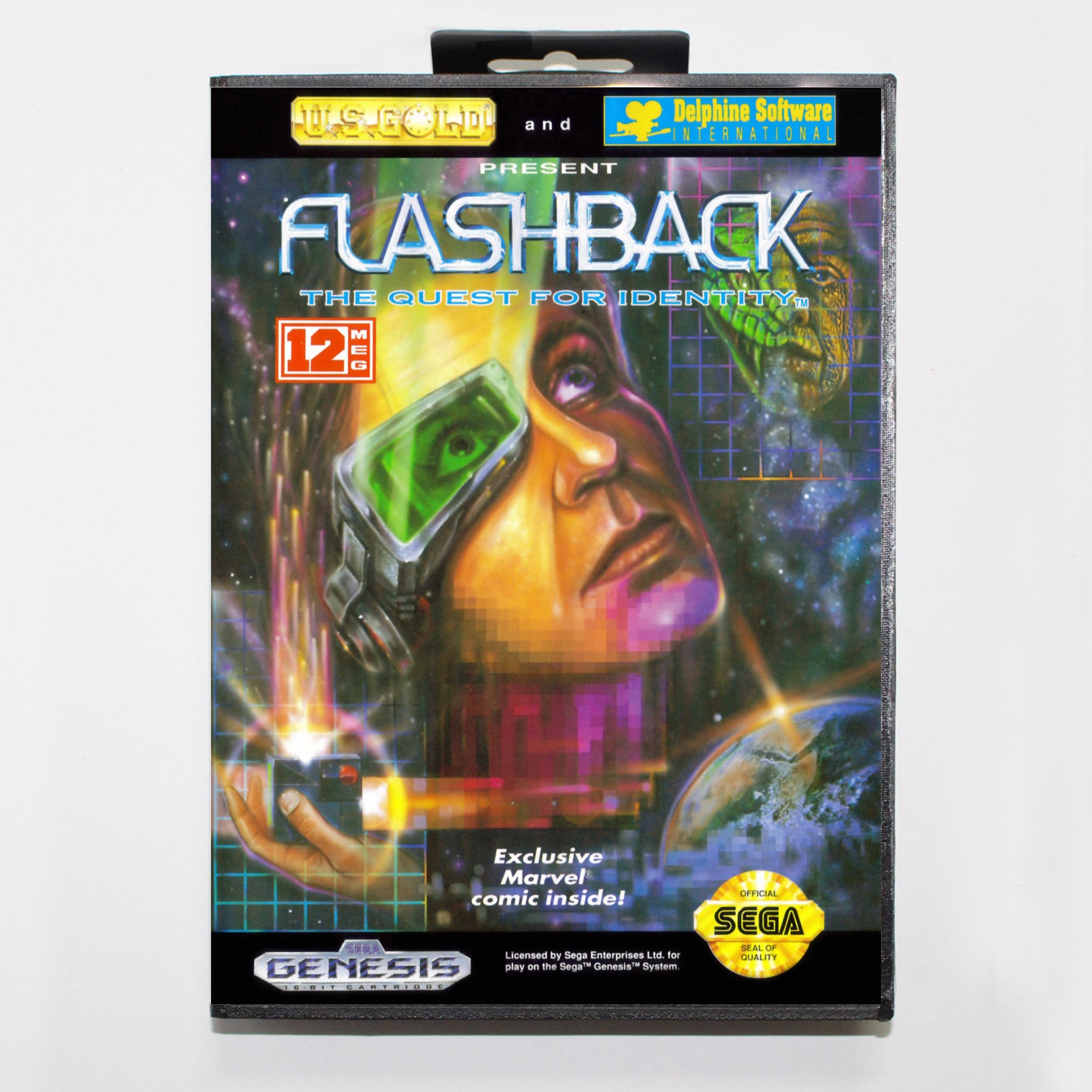 Flashback 16bit MD tarjeta de juego para Sega Mega Drive/Genesis con caja al por menor