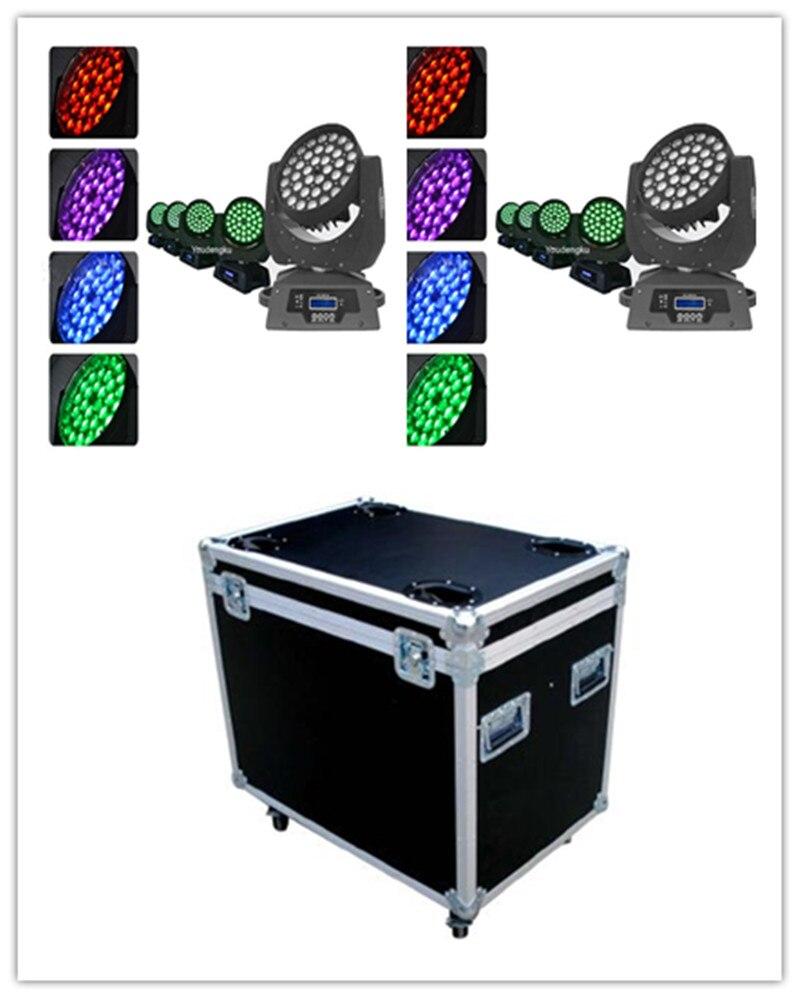 6 sztuk z roadcase Zoom 36x10 Watt Rgbw Wash Led reflektor z ruchomą głowicą 36x10 dioda led RGBW ruchoma głowica myjnia zoom Stage bar club l