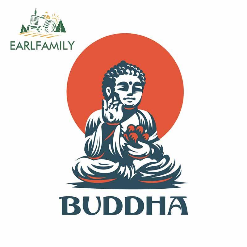 EARLFAMILY, 13cm x 9,4 cm, para Buddha, motocicleta, coche, pegatinas, etiqueta fina de moda, accesorios de coche para VAN RV, decoración de Graffiti
