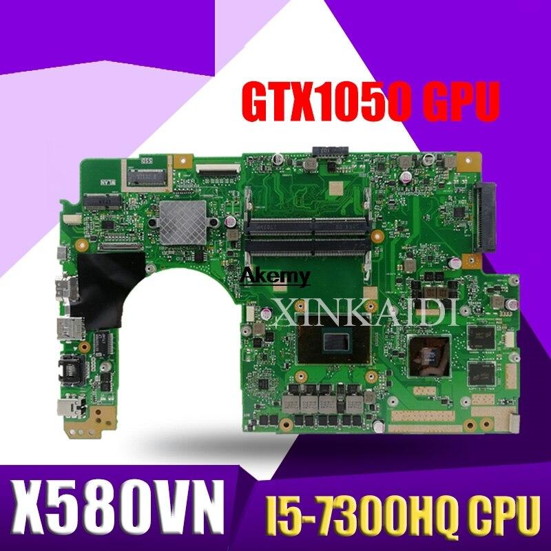 ل ASUS x580 vn x580 vd x580 v اللوحة الأم للكمبيوتر المحمول ث/I5-7300HQ وحدة المعالجة المركزية GTX1050 وحدة معالجة الرسومات