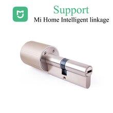 Zigbee cylindre de serrure intelligente e-clés Mihome sans fil WIFI serrure noyau Intelligent cryptage serrure de porte prise en charge pour Mijia Mi home APP