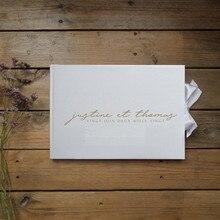 Custom Weiß Hochzeit Gästebuch Alternativen, Personalisieren Hochzeit Speicher Buch Hochzeit Schrott Buch Mit Name und Datum, foto Album