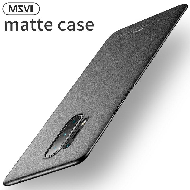 Msvii caso duro para oneplus 8 pro caso capa para oneplus 8 caso para um mais 8 pro funda fosco capa pc coque preto antiderrapante