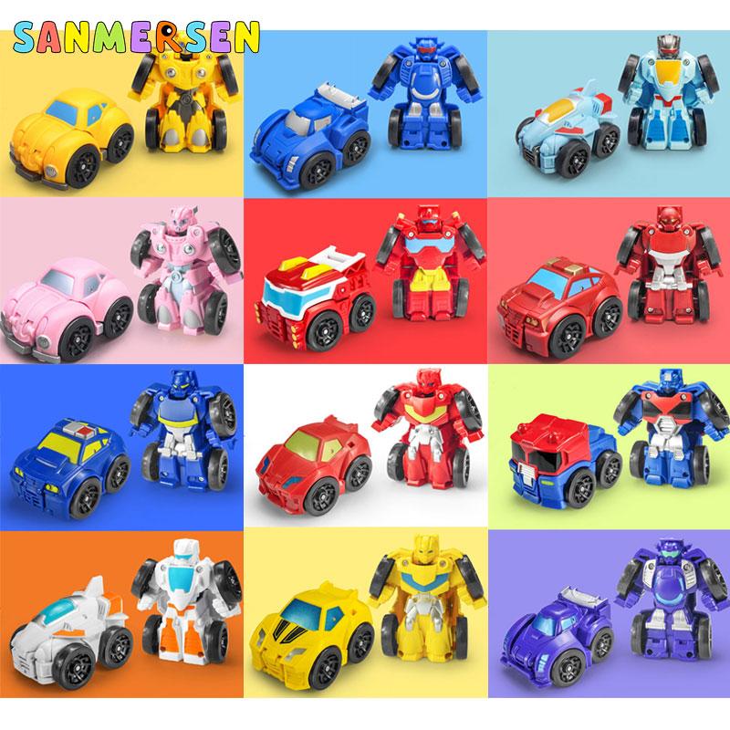 Juguete Robot de transformación Deformación de coches figuras de acción Robot juguetes para niños colección coches modelo de vehículo juguetes para niños