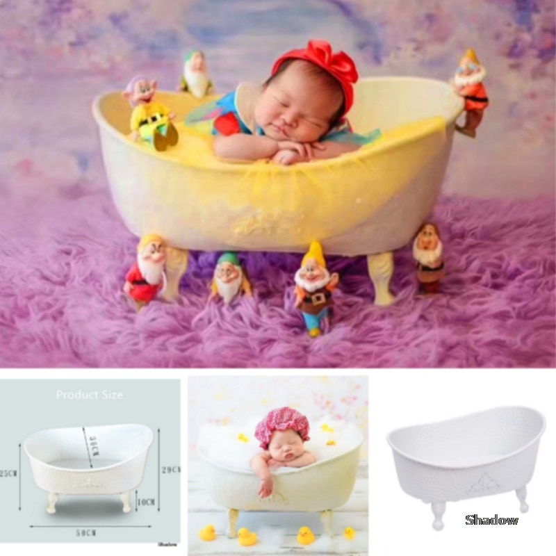 Newborn Photography Props Baby Posing Container Photo Bathtub Infant Shower Basket Creative Hot Accessory