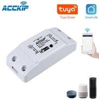 ACCKIP     interrupteur declairage intelligent WiFi  minuterie de disjoncteur universelle  application Smart Life  telecommande sans fil  fonctionne avec Alexa Google Home