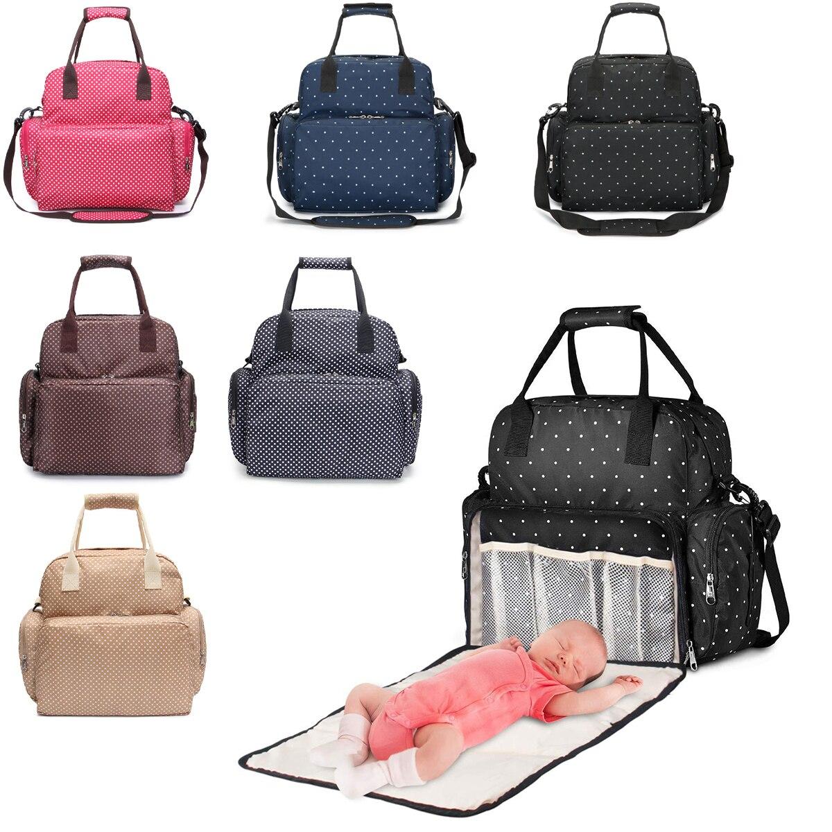 أكياس حفاظات الحفاض على ظهره حقيبة مومياء سعة كبيرة حقيبة متعددة الوظائف مقاوم للماء في الهواء الطلق السفر أمي حقيبة الطفل لرعاية الطفل