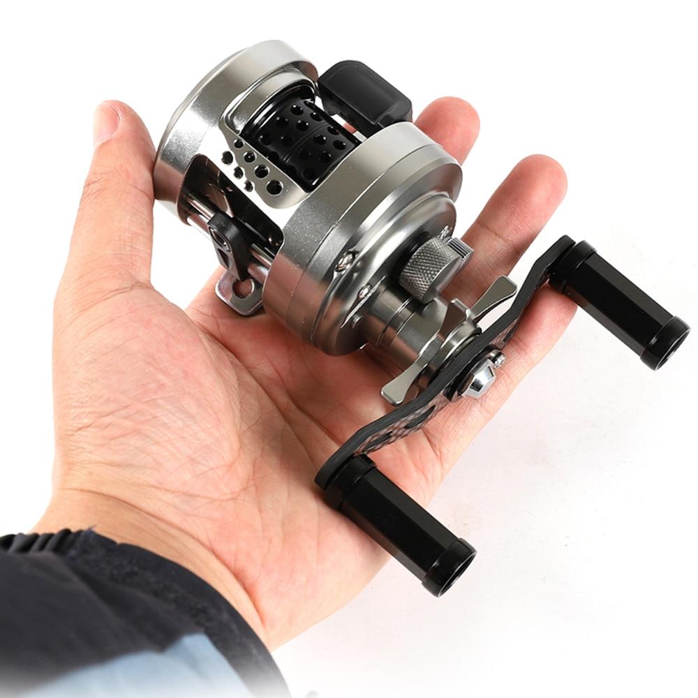 Metal Fishing Reel Drum Wheel Bait Casting Lure Reel 11+1BB 6kg Max Drag Shallow Alloy Spool Carbon Handle 6.4:1 Gear Ratio enlarge