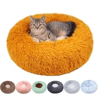 dog cat bed round long plush mat comfortable touch sofa cats nest dog kennel house cushion for small large dog cats new style