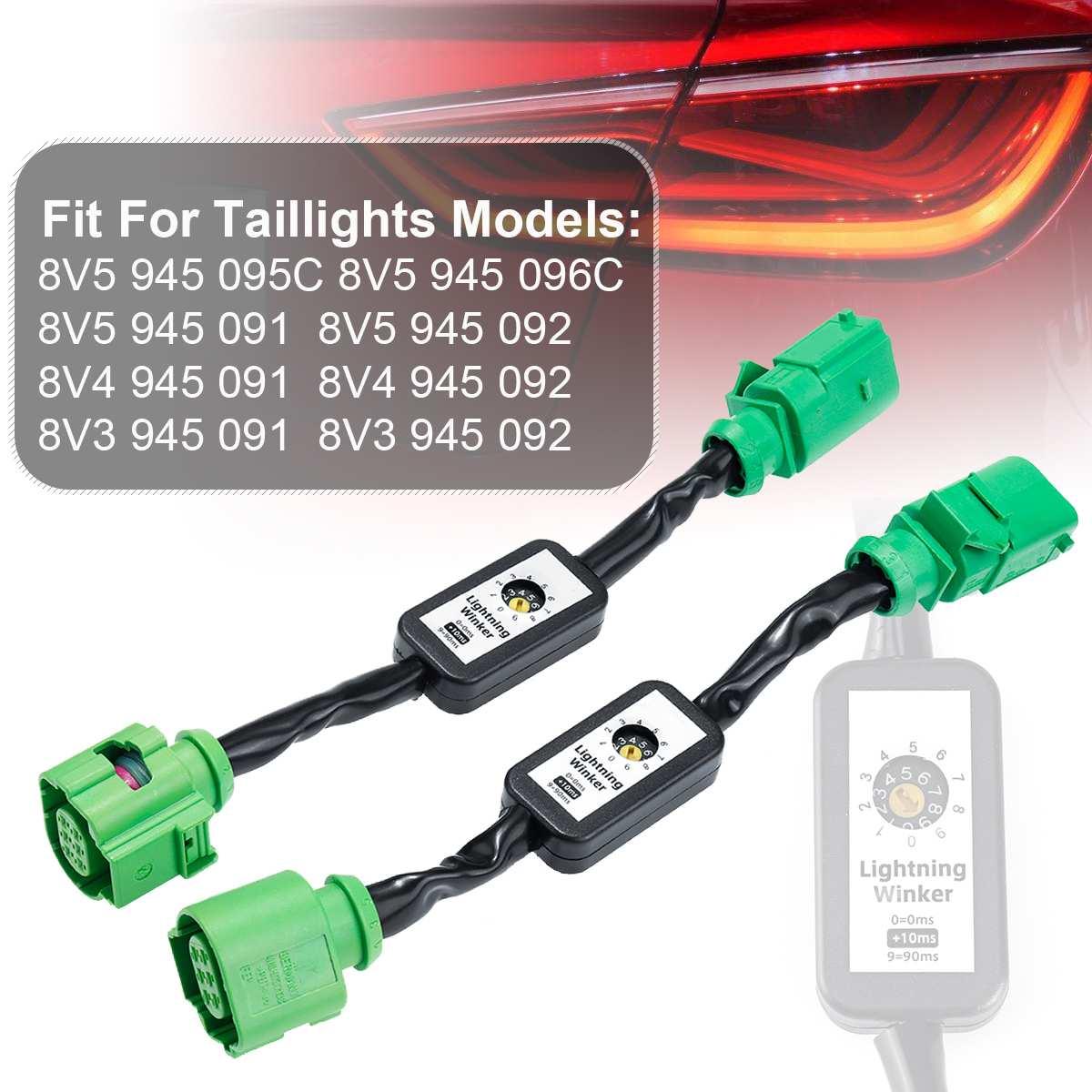 NOVO UM Par Dinâmico Turn Signal Indicator LED Taillight Add-on Módulo Fio Para Audi A3 8V Esquerda & direito Luz Da Cauda