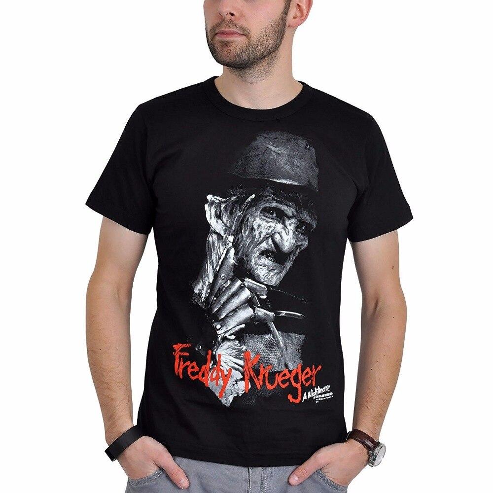 Cool Tees Funny Men Crew Neck pesadilla en la calle Elm Camiseta de manga corta Camiseta de algodón negro 010815