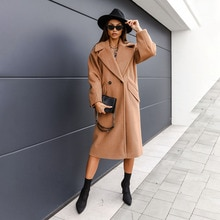 2021 Women's New Autumn Jacket Long Coat Commuter Simple Fashion Casual Style Long-sleeved Solid Col