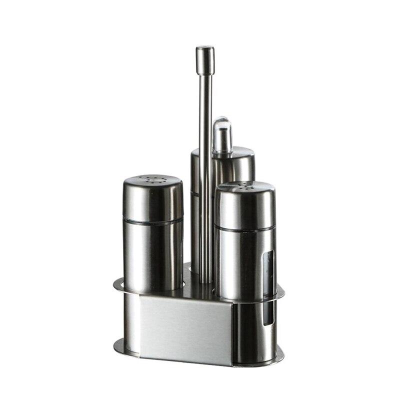زجاجة توابل المطبخ مجموعة زجاجة الفلفل حامل أدوات مطبخ لتخزين الخل الملح النفط