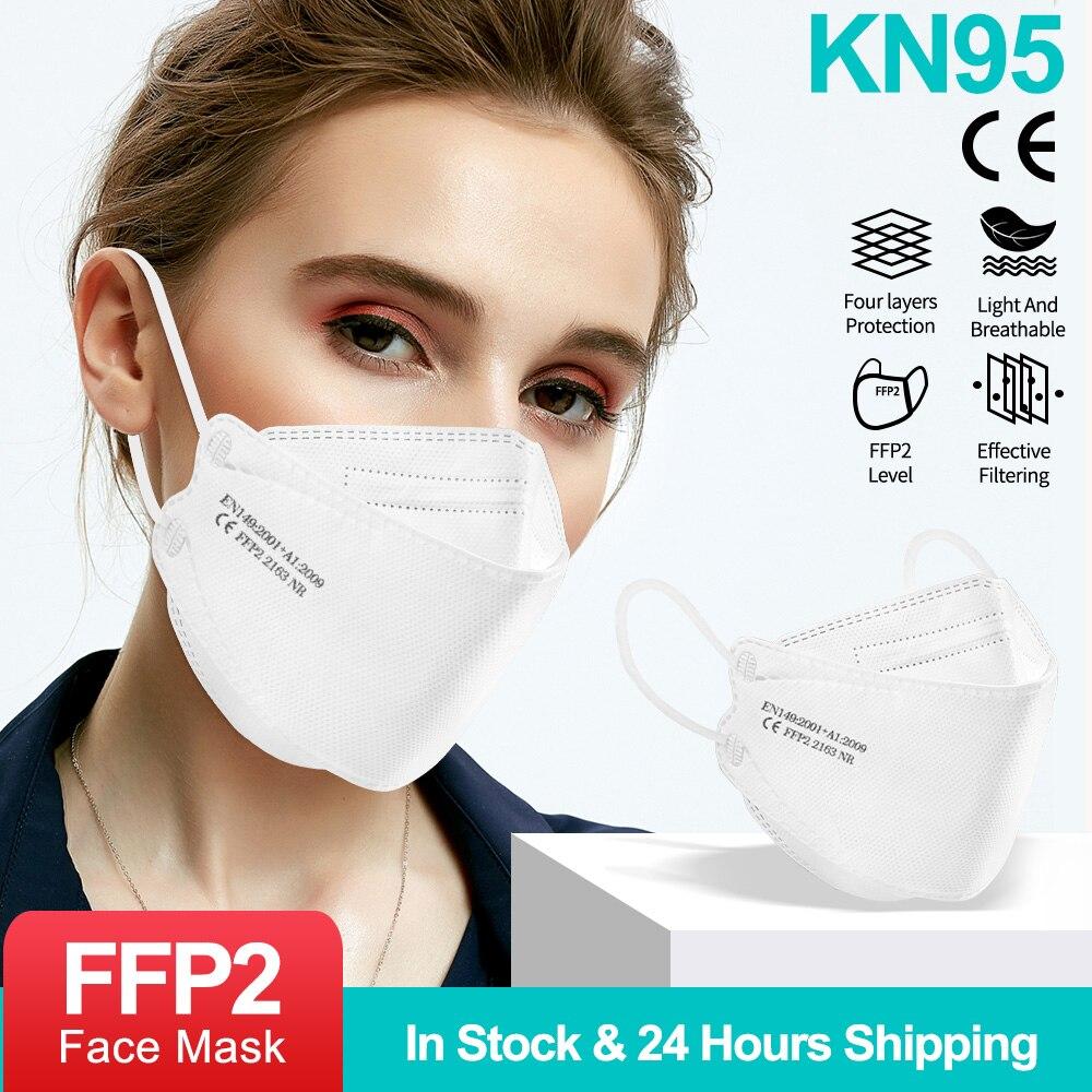Peces adultos KN95 máscara de tejido reutilizable FFP2 máscara CE respirador a...