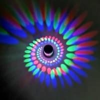 Rvb spirale trou 3W mur LED effet de lumiere eclairage interieur applique murale pour fete Bar hall KTV decoration de la maison