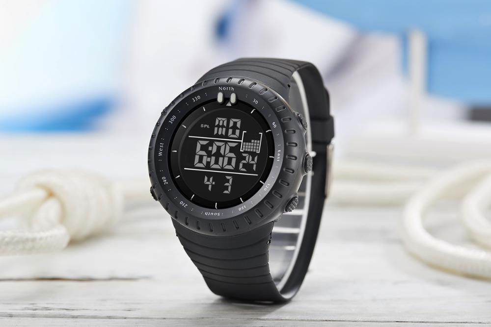 BIDEN Mens Watch New Arrival Black Plastic Strap Digital Wristwatches Waterproof High Qualit Top Brand Fashion Design Man Clock