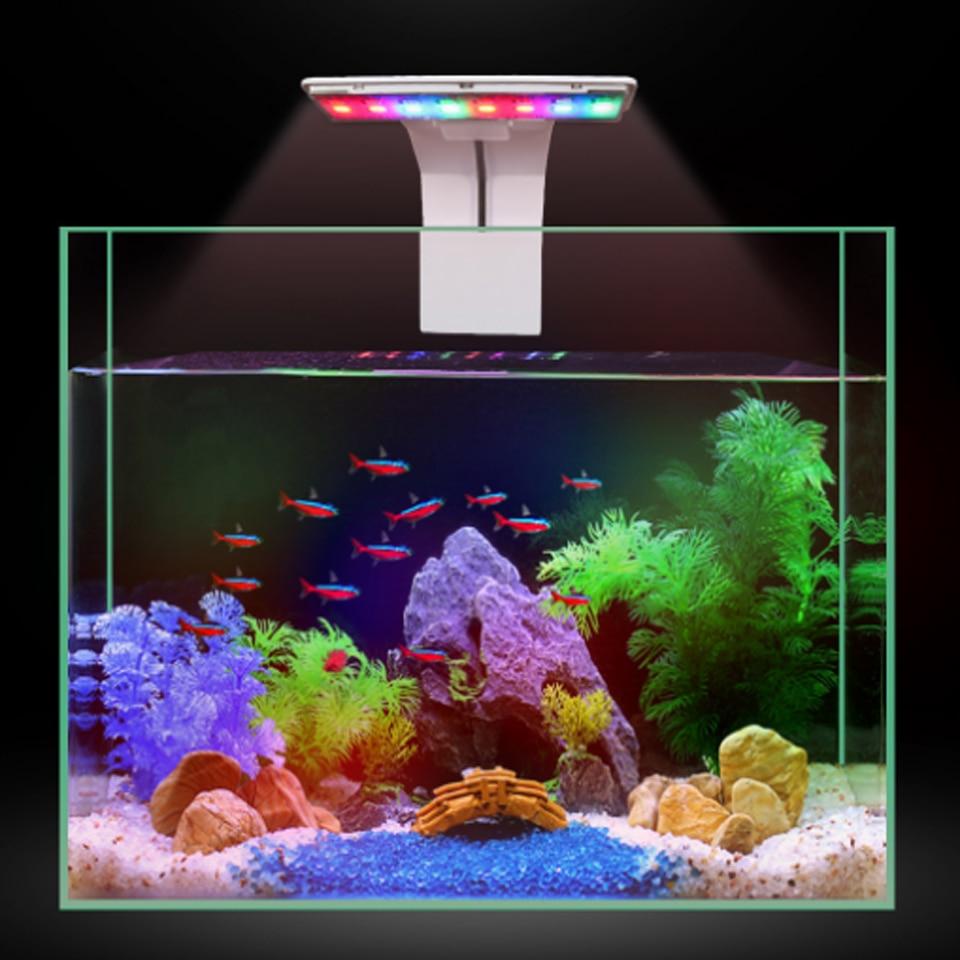 New 5W Aquarium Led Lighting Blue White Waterproof Clip-on LED Aquarium Plants Grow Lighting for Freshwater Fisk Tanks
