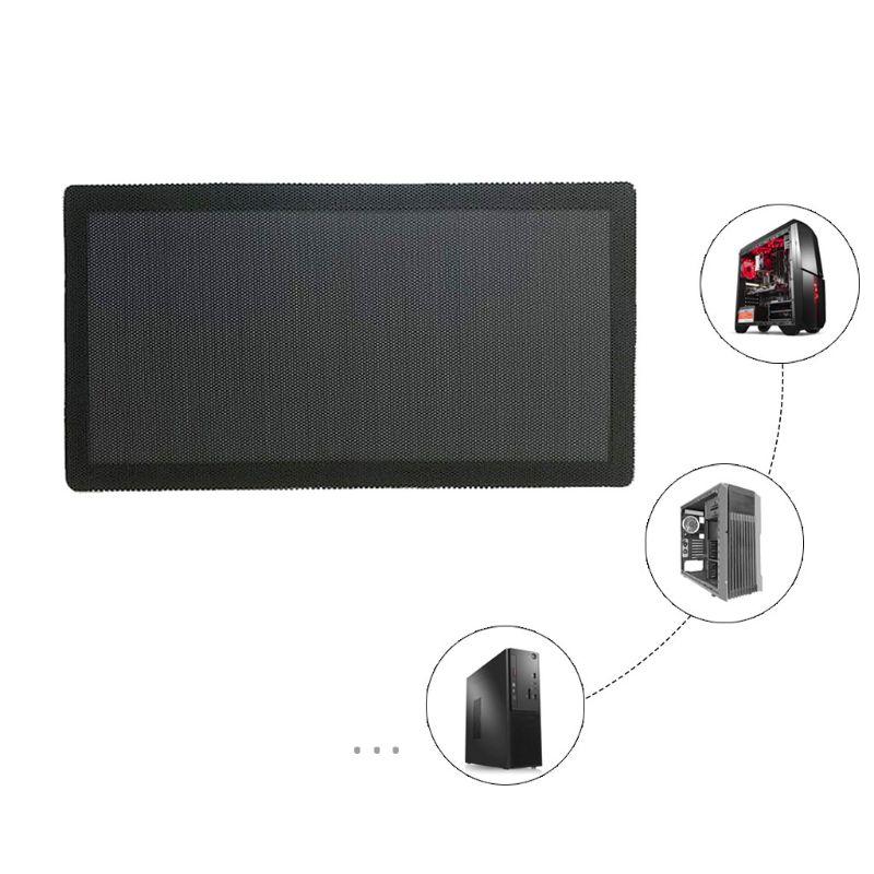 Filtro de polvo magnético a prueba de polvo protector de red de malla de PVC para chasis de Casa caja de ordenador Accesorios de ventilador de refrigeración 12x24CM