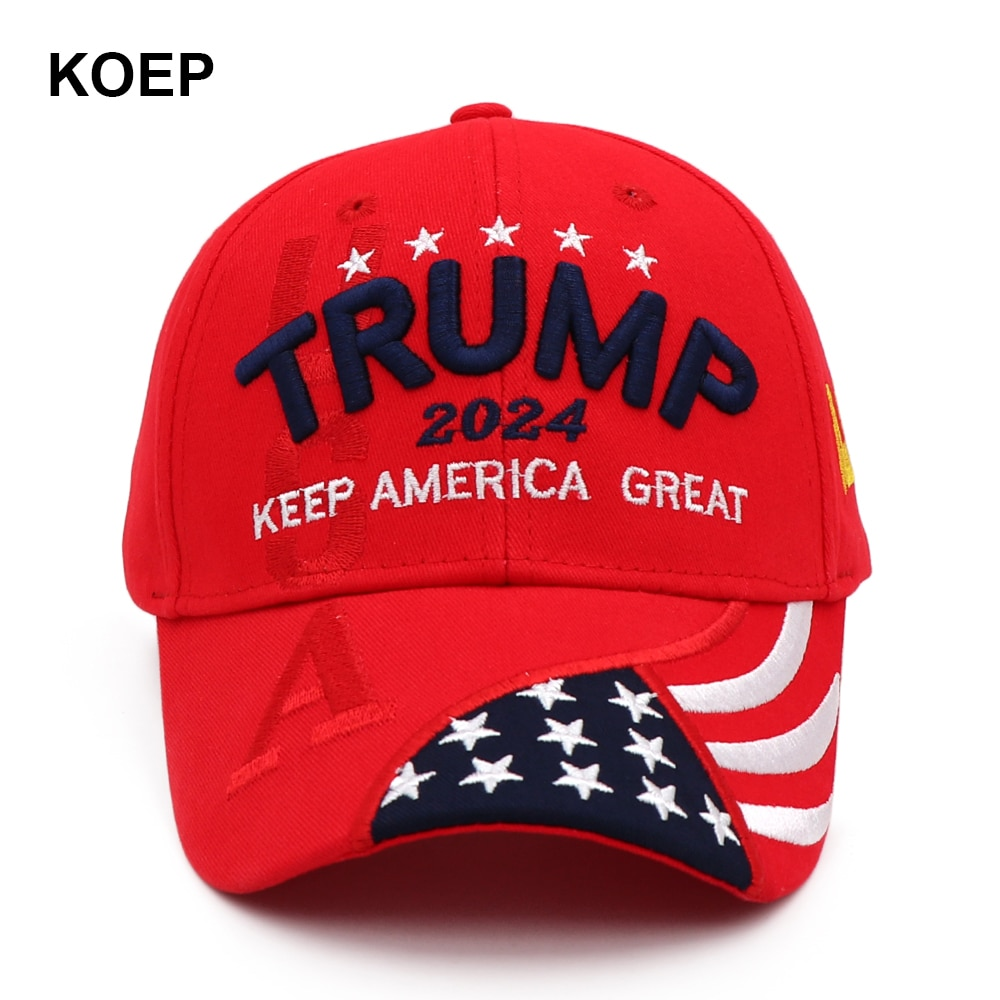 New Donald Trump 2024 Cap USA Baseball Caps Keep America Great Snapback President Hat 3D Embroidery Wholesale Drop Shipping Hats