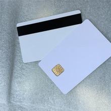3000Pcs fudan4428 blank Hallo-co hico pvc magnetische streifen karten kontaktieren chip karten sle4428