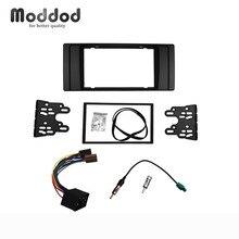 DVD panneau stéréo GPS   Pour BMW série 5 E39 X5 E53 Radio CD E53 Double Din Fascia montage, câblage ISO + adaptateur dantenne