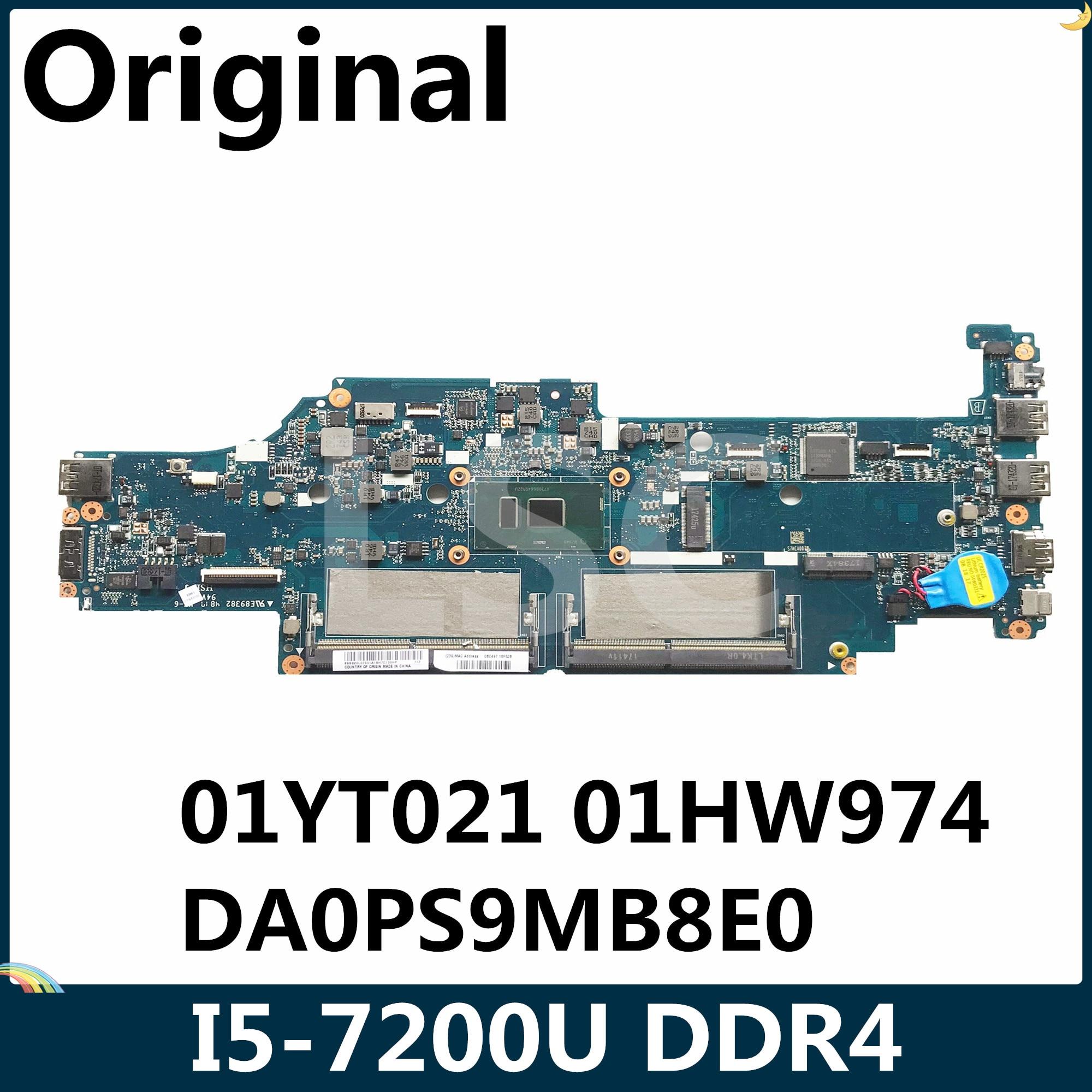LSC For LENOVO Thinkpad Yoga 13 S2 Laptop motherboard Core SR342 I5-7200U DA0PS9MB8E0 01YT021 01HW974 DDR4