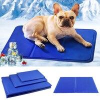 Охлаждающий Шелковый коврик для собак и других домашних животных, Удобный прочный охлаждающий коврик для сна с активированным давлением
