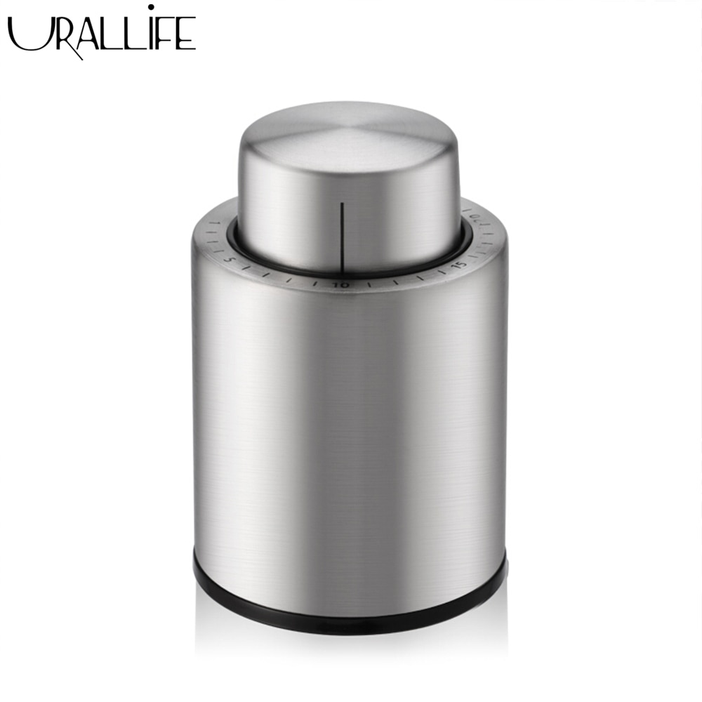 Вакуумный мини-герметик Urallife для хранения винных крышек из нержавеющей стали с указателем даты   АлиЭкспресс